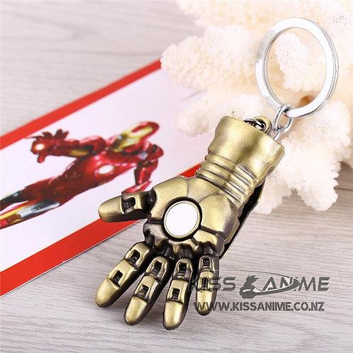 Iron Man Hand Blaster Repulsor Beam Gold Tone Keychain