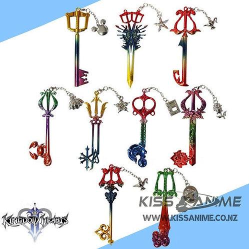 Kingdom Hearts Cosplay Pendant Sora Keyblade Keychain (9pcs)