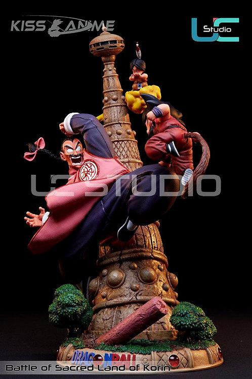 DBZ-Dragon Ball UCS Studio small Goku VS Tao Pai Pai Resin statue