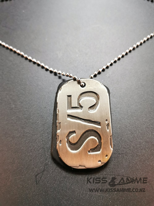 Gangsta S/5 Dog Tags Pendants Necklace