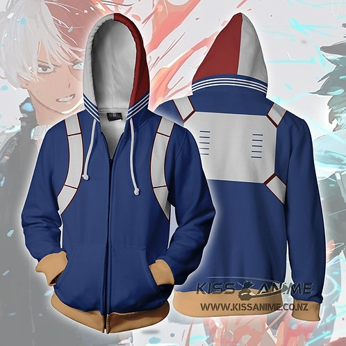 My Hero Academia Shoto Todoroki Zipper Jacket Hoodie