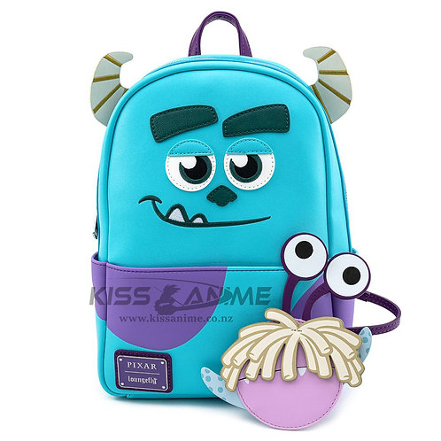 LOUNGEFLY X PIXAR MONSTERS INC. SULLY COSPLAY MINI BACKPACK W/ BOO COIN PURSE