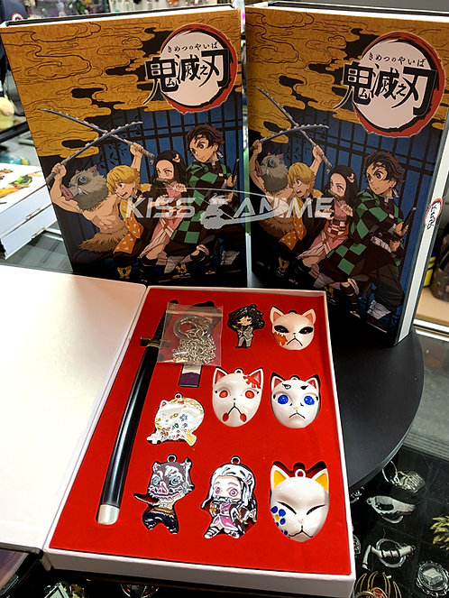 Demon Slayer Kimetsu no Yaiba Key Rings + Rings Gift Set C