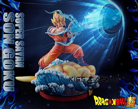 MQ012 - 1:5 Super Saiyan Son Goku Kamehameha Gk Resin Statue
