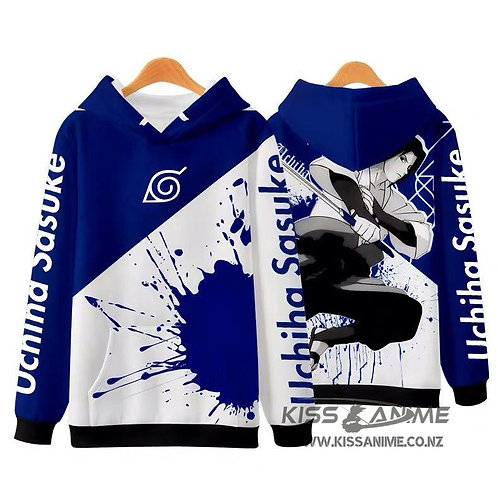 Naruto 3D Digital Printing Oversized Plus Velvet Pullovers Sweatshirt