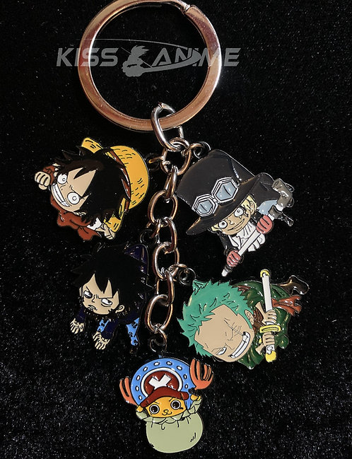 One Piece 5 Pendant Metal Keychain