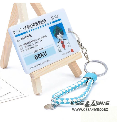 My Hero Academia Izuku Midoriya Provisional Hero License Card Holder Keychain