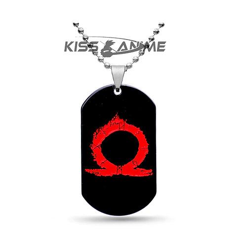 God Of War Symbol Dog Tag Pendant Necklace
