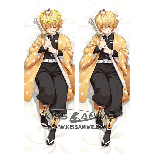 Demon Slayer Zenitsu Agatsuma Dakimakura Hugging Body Pillow