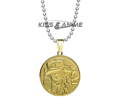 JoJo's Bizarre Adventure Kujo Jotaro Coin Tag Pendant Necklace