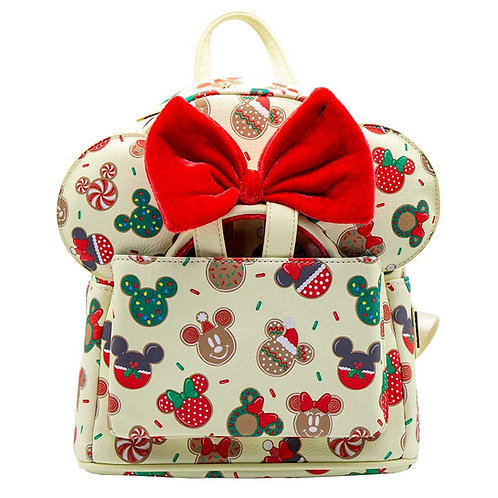 Loungefly Disney - Mickey & Minnie Mouse Gingerbread Mini Backpack & Mouse Ears