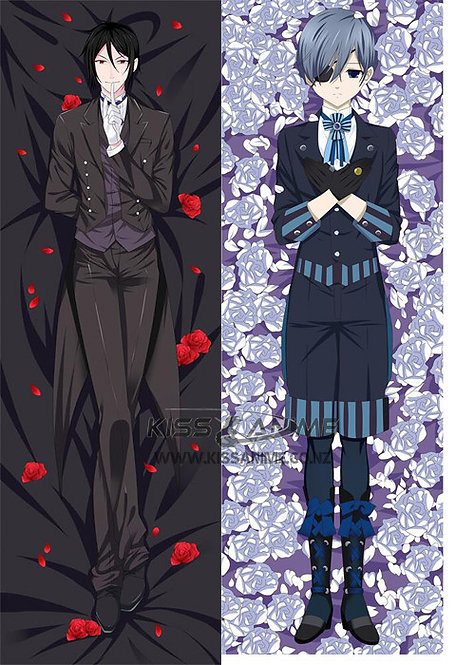 Black Butler Ciel and Sebastian Dakimakura Hugging Body Pillow Package