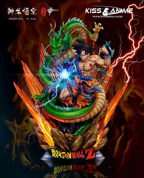PRE-ORDER LC StudioDragon Ball Z - Son Goku & Shenron 1:5 Resin Statue Ex Ver.