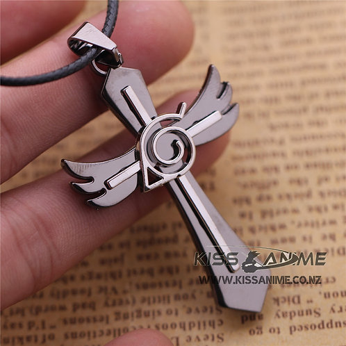 Naruto Necklace Cross Wings Pendant