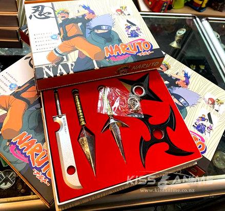 Naruto Kunai Shuriken Metal Weapons Set (5pcs)