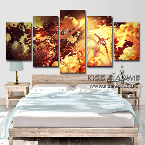 One Piece Ace Canvas Painting