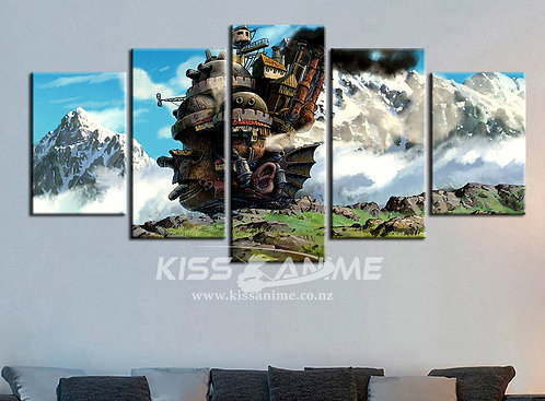 Howl's Moving Castle Canvas Painting