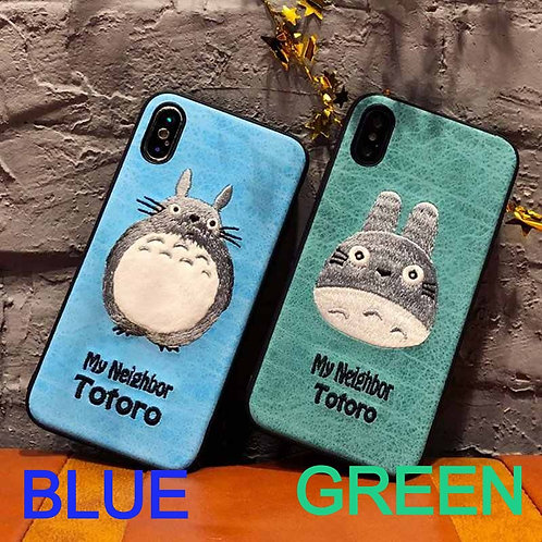 My Neighbor Totoro Embroidered Phone Case