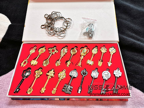 Fairy Tail Lucy Key Keychains Metal Collectible (18pcs)