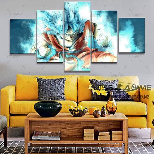 Dragon Ball Super Goku Blue Canvas Painting
