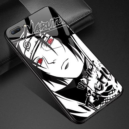 Naruto Itachi Uchiha Tempered Glass Phone Case