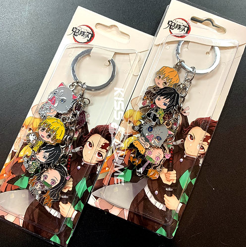 Demon Slayer: Kimetsu no Yaiba  5 Pendant Metal Keychain