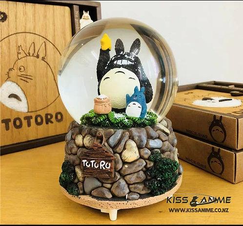 My Neighbor Totoro (Stars) Crystal Ball Snowflake Music Box