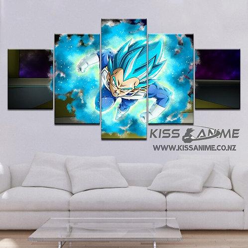 Dragon Ball Super Vegeta Blue Canvas Painting