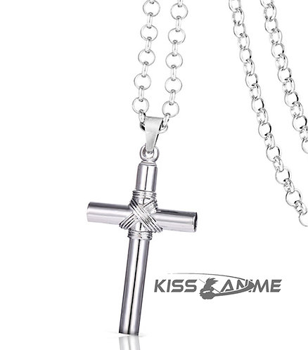 Hell Girl Whistle Cross  Pendant Necklace