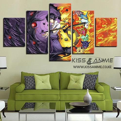 Naruto & Sasuke Canvas Painting