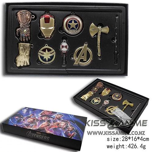 Marvel Avengers 4 Keychain Gift Set (9pc/Set)(2 Colors)