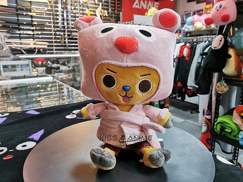 One Piece Tony Tony Chopper Pink Bathrobe Plush Doll