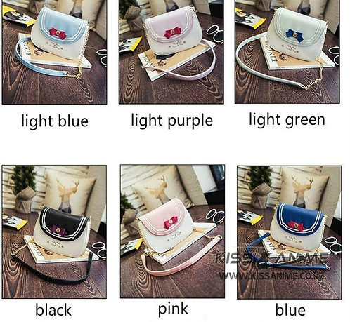 Sailor Moon Bag Ladies Handbag Women PU Leather Chain Messenger Crossbody Bag
