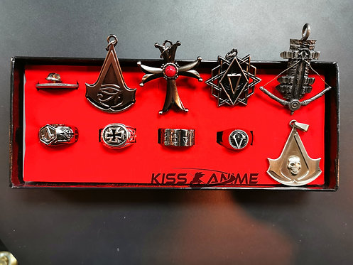 Assassin's Creed Key Rings and Rings Gift Set