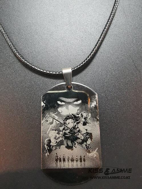 Demon Slayer: Kimetsu no Yaiba Dog Tag Pendant Necklace