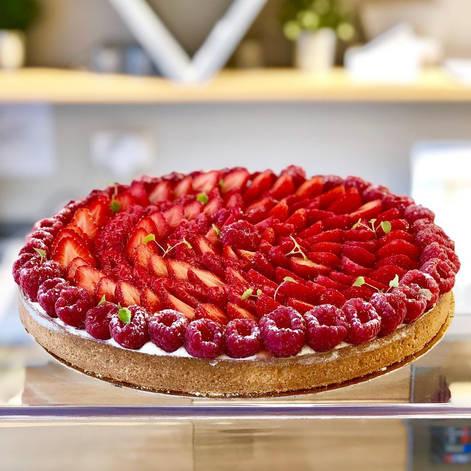 Patisserie BO&MIE : Tarte aux framboises et fraises