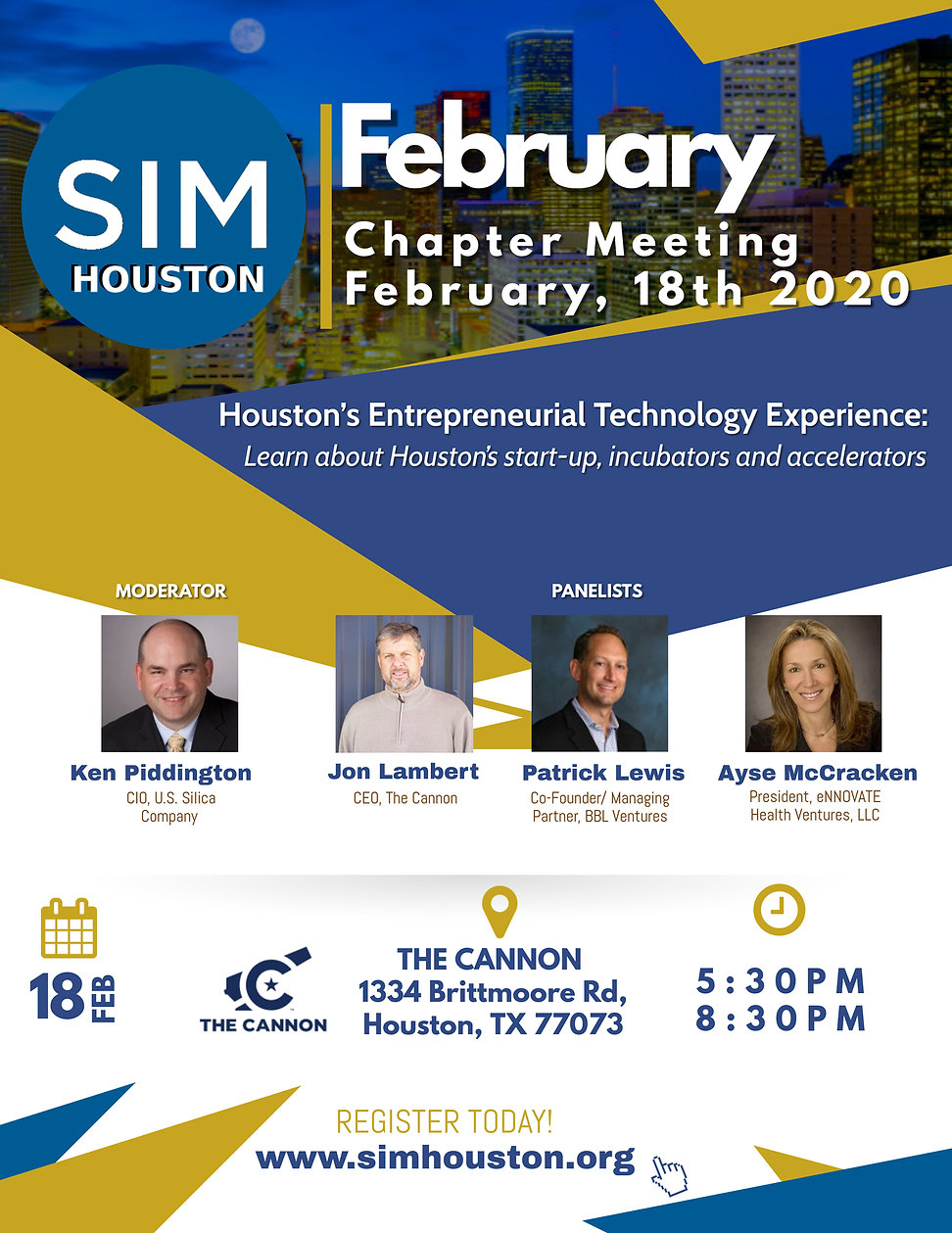 2 February SIM Houston Chapter Meeting (