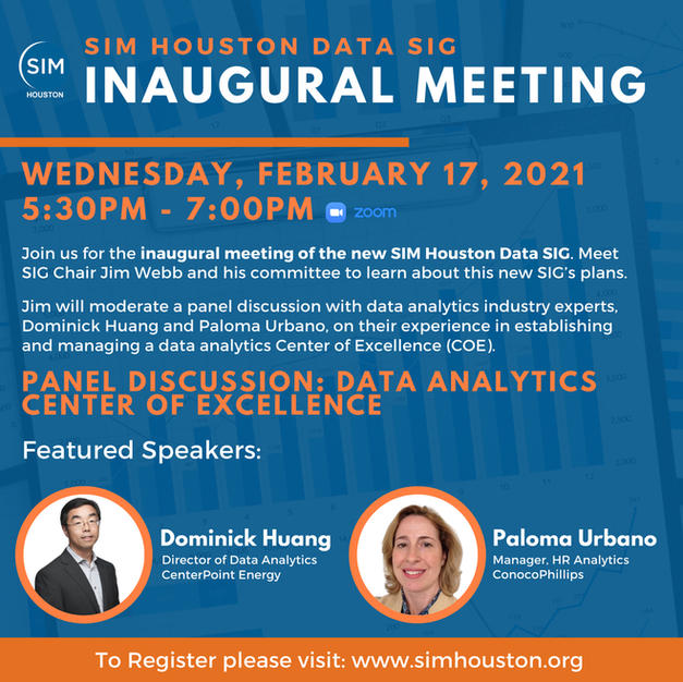 SIM Data SIG Inaugural Meeting