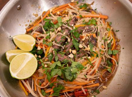 Leftover Steak Pad Thai