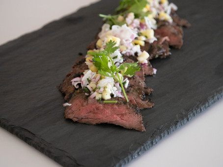Serrano - Lime Certified Piedmontese Skirt Steak with Pineapple Coconut Salsa