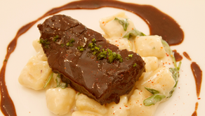 Homemade Goodness: Garlic and Red Wine Braised Short Ribs with Cheesy Potato Gnocchi