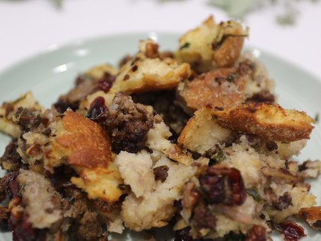Beef, Cranberry & Apple Stuffing