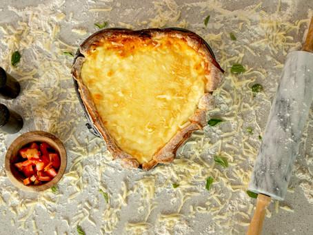 Heart Shaped Deep Dish Pizza