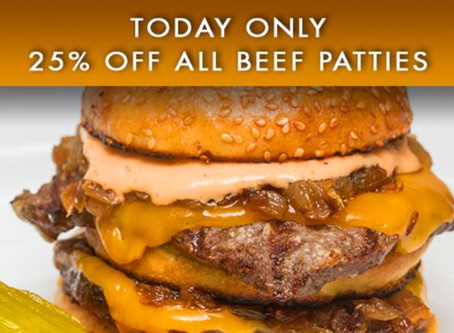 It's National Cheeseburger Day!  Enjoy 25% off all our Certified Piedmontese Beef patties!