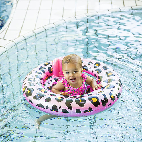 Baby Swim Seat Rose Leopard (0-1 year)