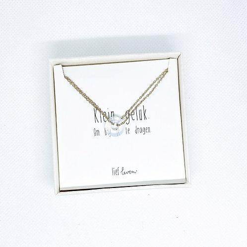 Armband steen wit • Helderheid (goud)