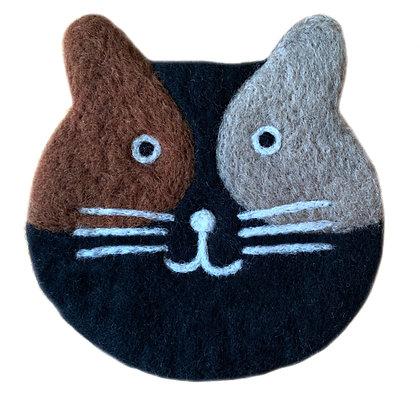 Onderzetter kat zwart
