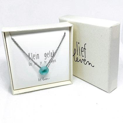 Armband steen blauw • Creativiteit (zilver)