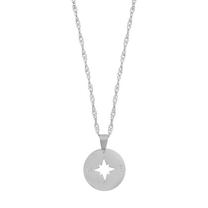 Necklace - Compass (silver)