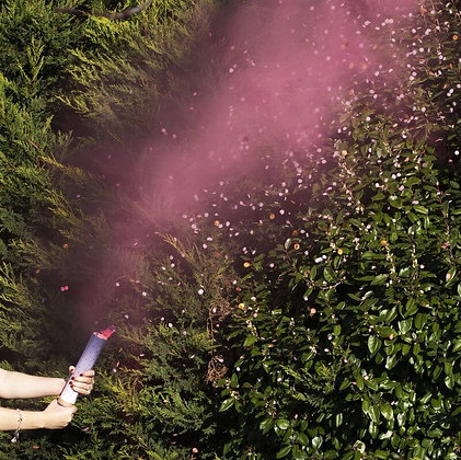 PINK GENDER REVEAL SMOKE CANNON WITH CONFETTI